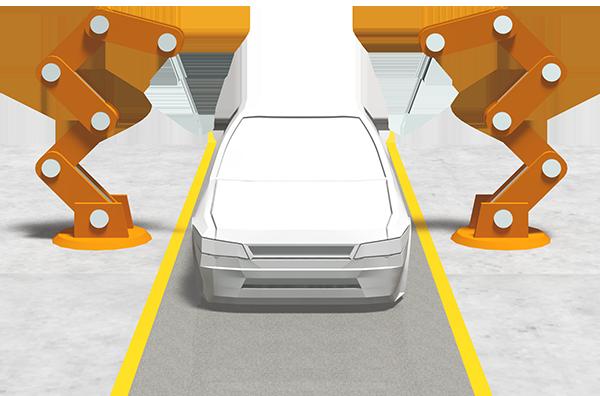 自動車産業はロボット自動化が進んでいる